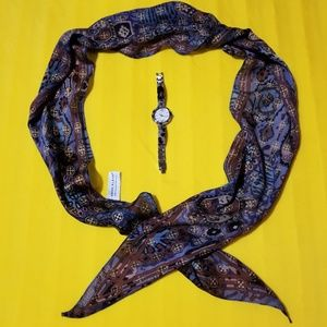 Anne Klien Watch & Scarf bundle of 2